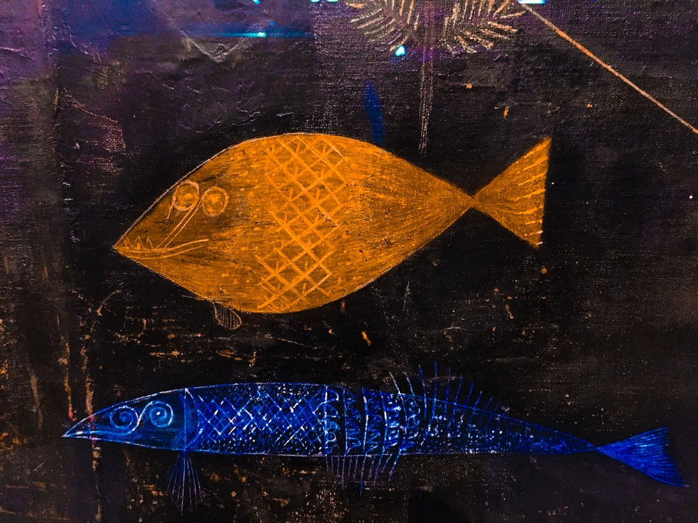 Detail form one of Klee's aquarium paintings