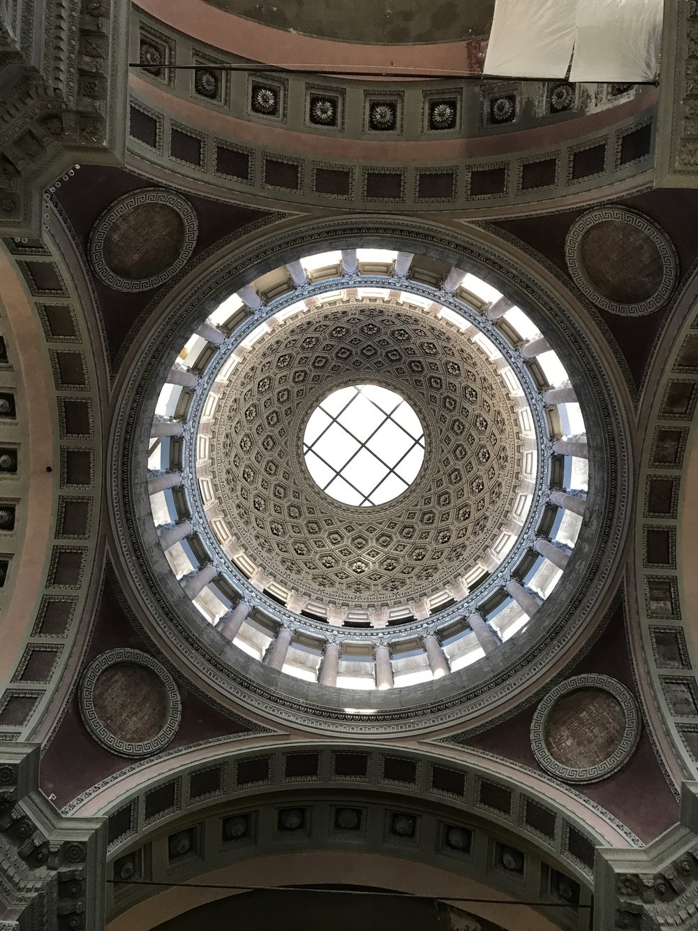 the rotunda at Basilica of San Gaudenzio