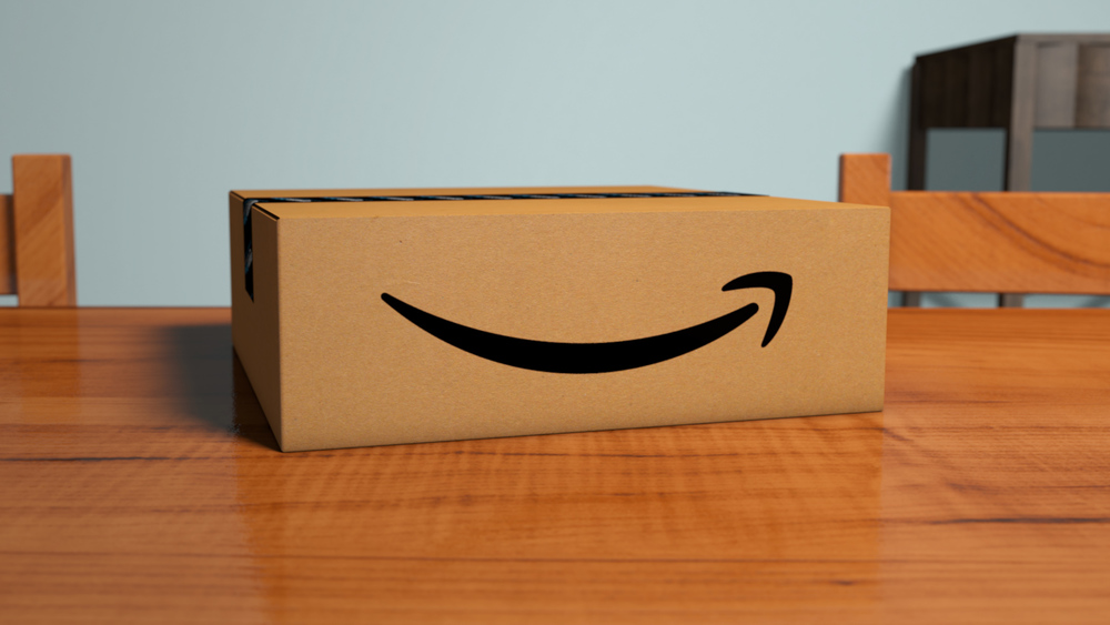 Amazon box and scene made in Cinema 4D by yours truly.