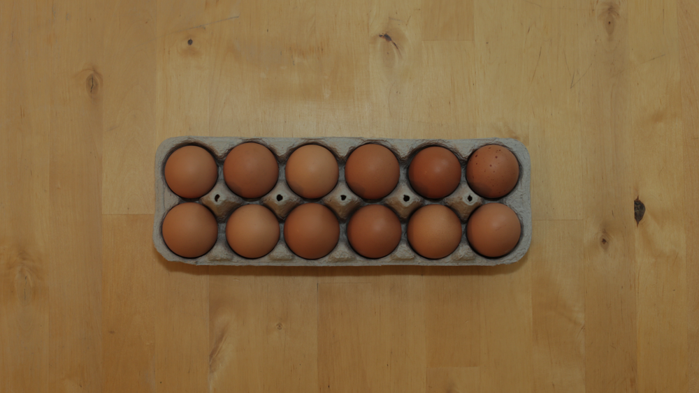 Nothing makes a balanced breakfast like a balanced egg carton.
