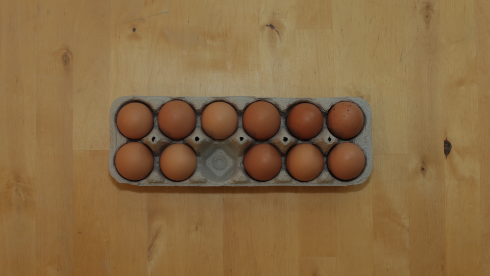 With one egg out, we have no choice but to have some asymmetry.