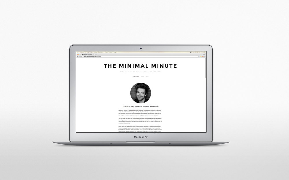 The Minimal Minute in all its glory. So clean. So minimal.