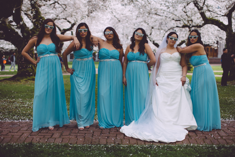 Bridesmaids being bridesmaids.