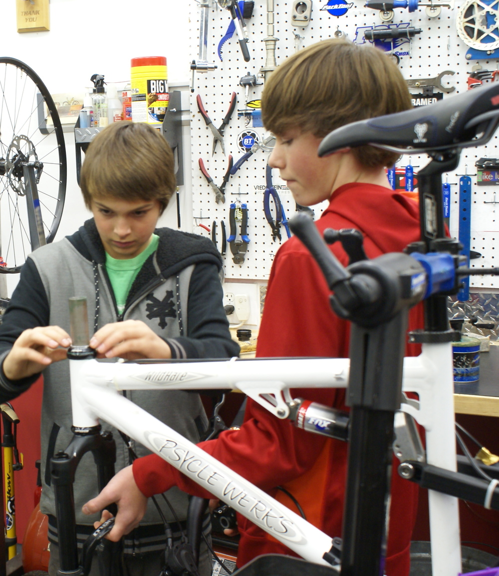 Special Projects, buttoning up a bike build only.   Arthur is an expert at bike repair and maintenance. He is also patient, enthusiastic and a great teacher! My son built his first bike and Arthur worked with him on the headset, which my son was stuck on. Arthur explained a lot and let my son do most of the work. We will be back for Arthur's classes!    Serena, Los Altos Ca. 1/2015