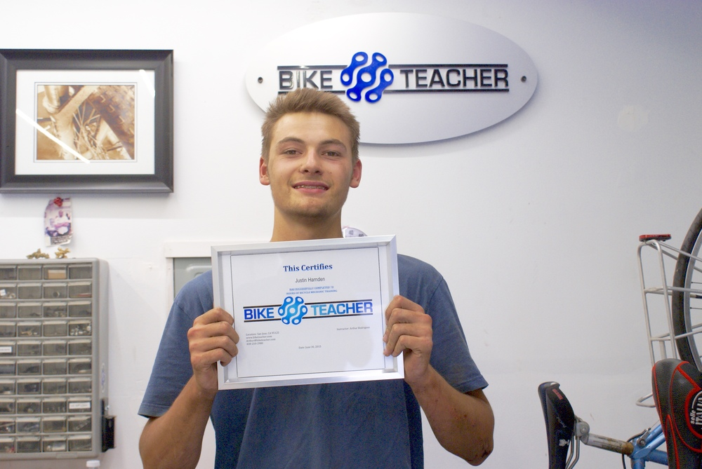 Justin completed the 70 hour training course in record time in just nine days straight.