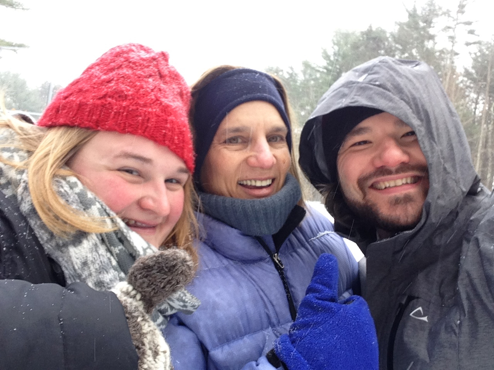 Camp Director Kat Moser, Mrs. Ahearn, and Mr. Drummond, on their January 2015 scouting trip to check out the camp.