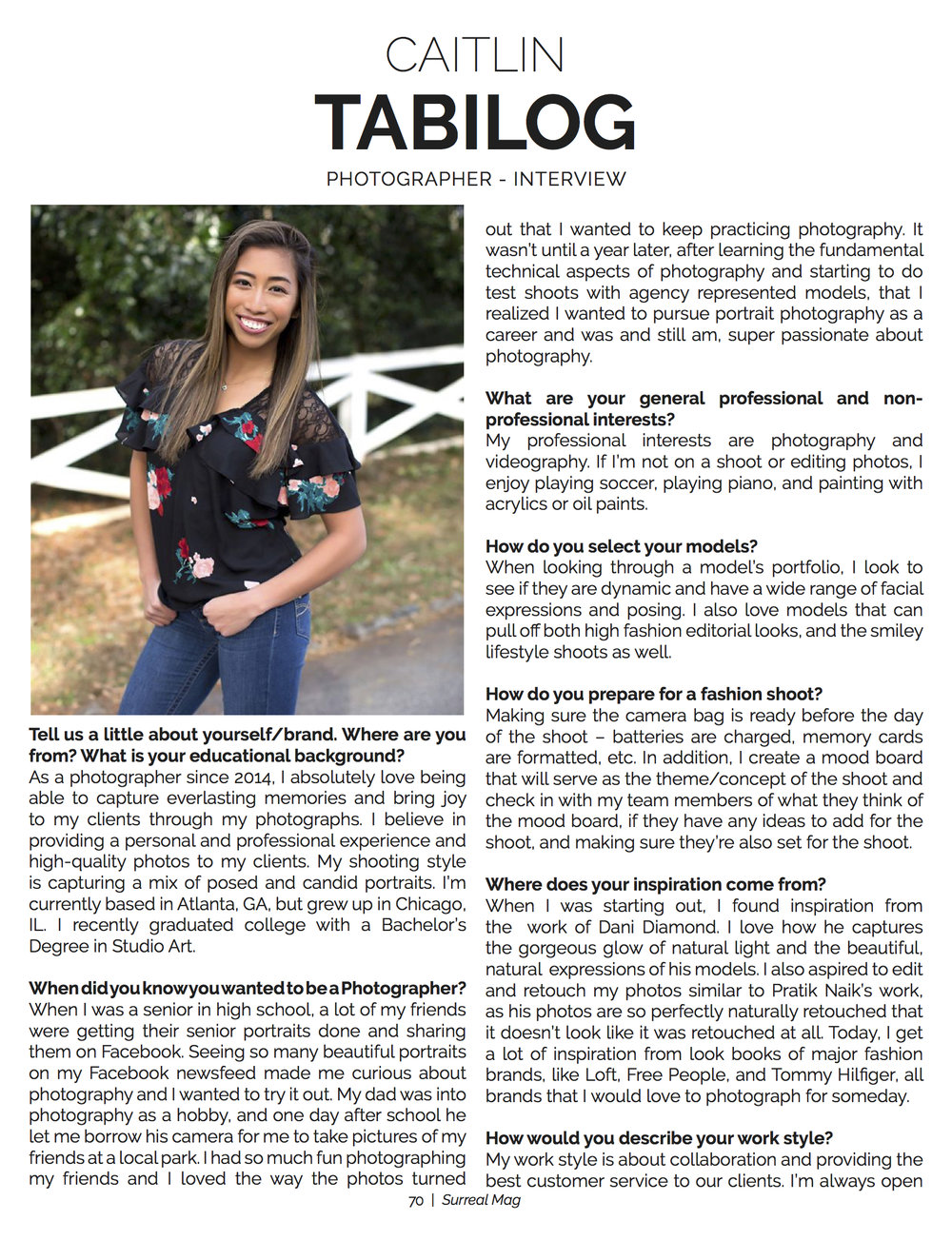 Interview by Surreal Beauty Magazine
