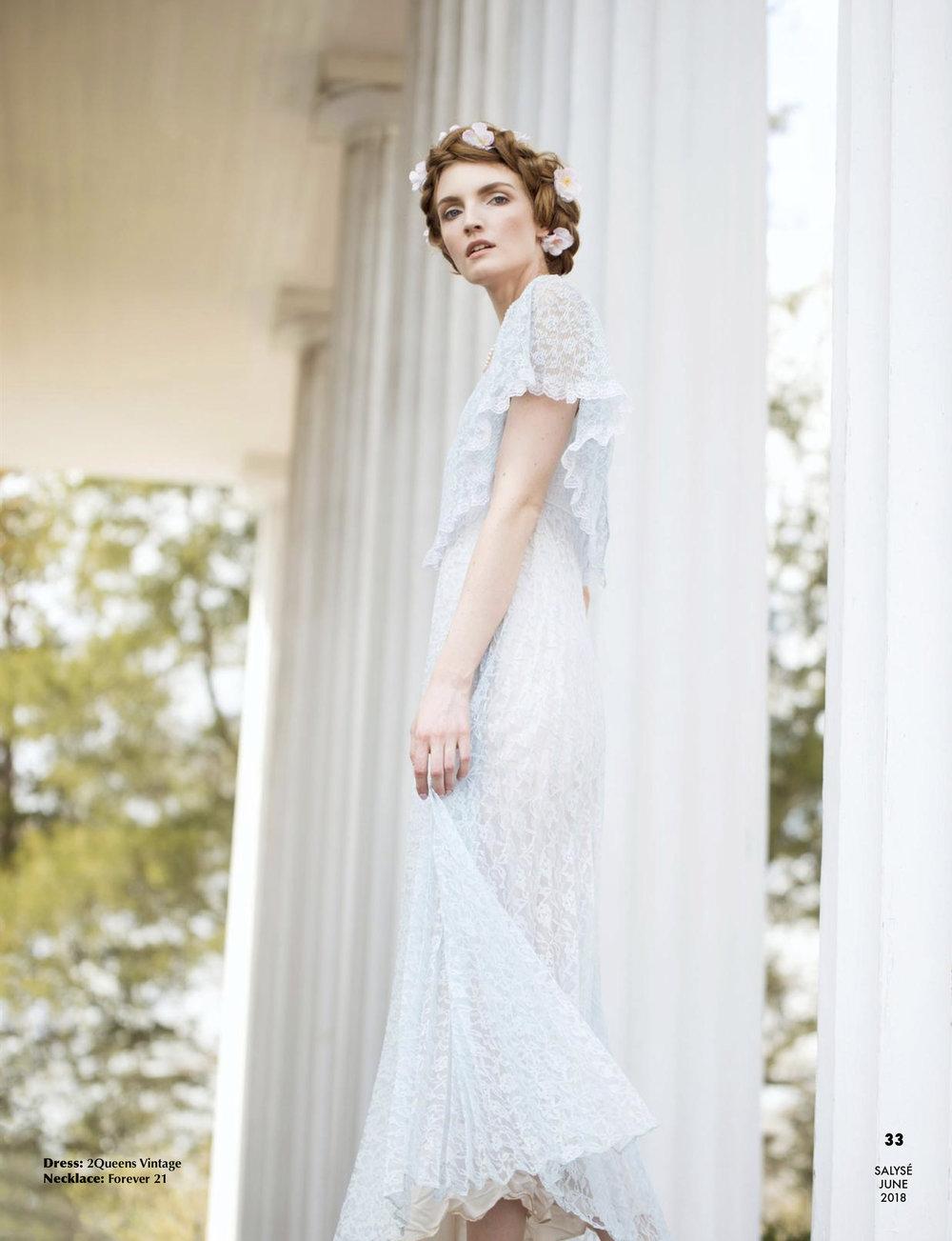 """Belle"" Fleur"" Published in Salyse Magazine  Model: Karen Powell  Agency: Ursula Wiedmann Models  Makeup + Hair: Ashley Langston  Stylist: Joy Hollywood"