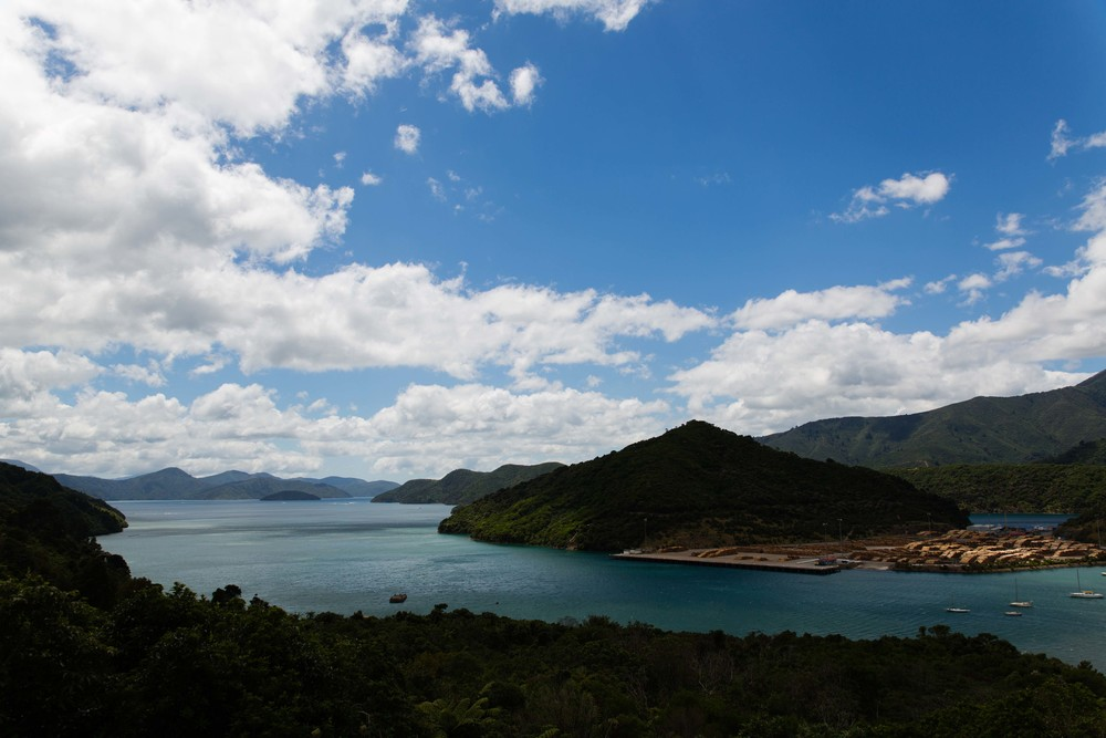 View over Queen Charlotte Sound