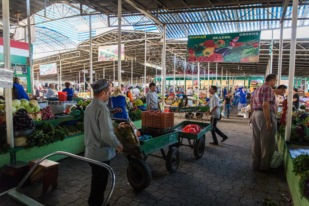 Marketplace full of delicious goods