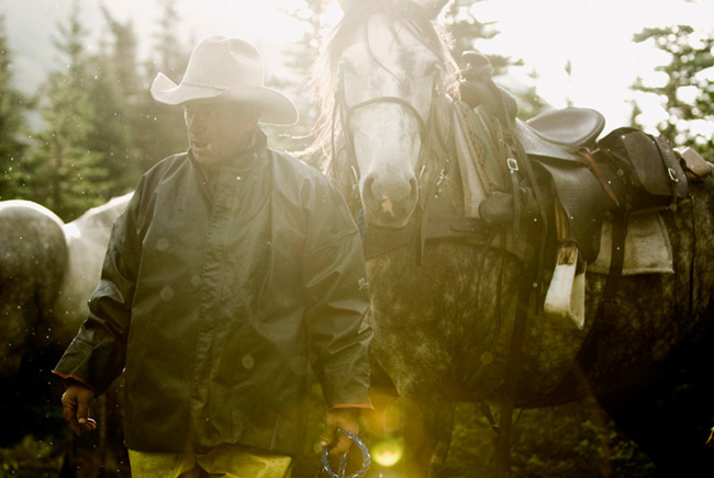 Outfitter and horse, Sacred Headwaters. Magenta Foundation Flash Forward 2013