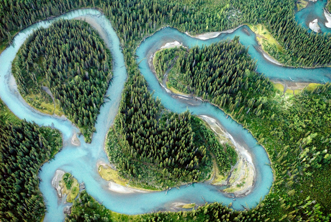 Iskut River meanders, British Columbia, 2010