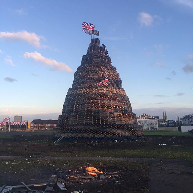 They build 'em big in Belfast. Northern Ireland lights up with massive bonfires on The Twelfth.