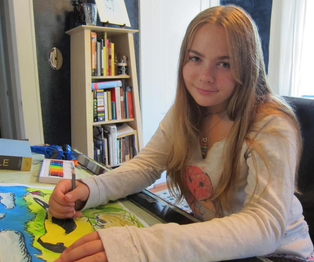 Olivia Bouler, artist, naturalist, activist, teenager.