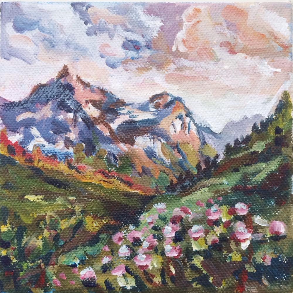 No. 1: Glacier National Park                       5x5,acrylic                         Sold