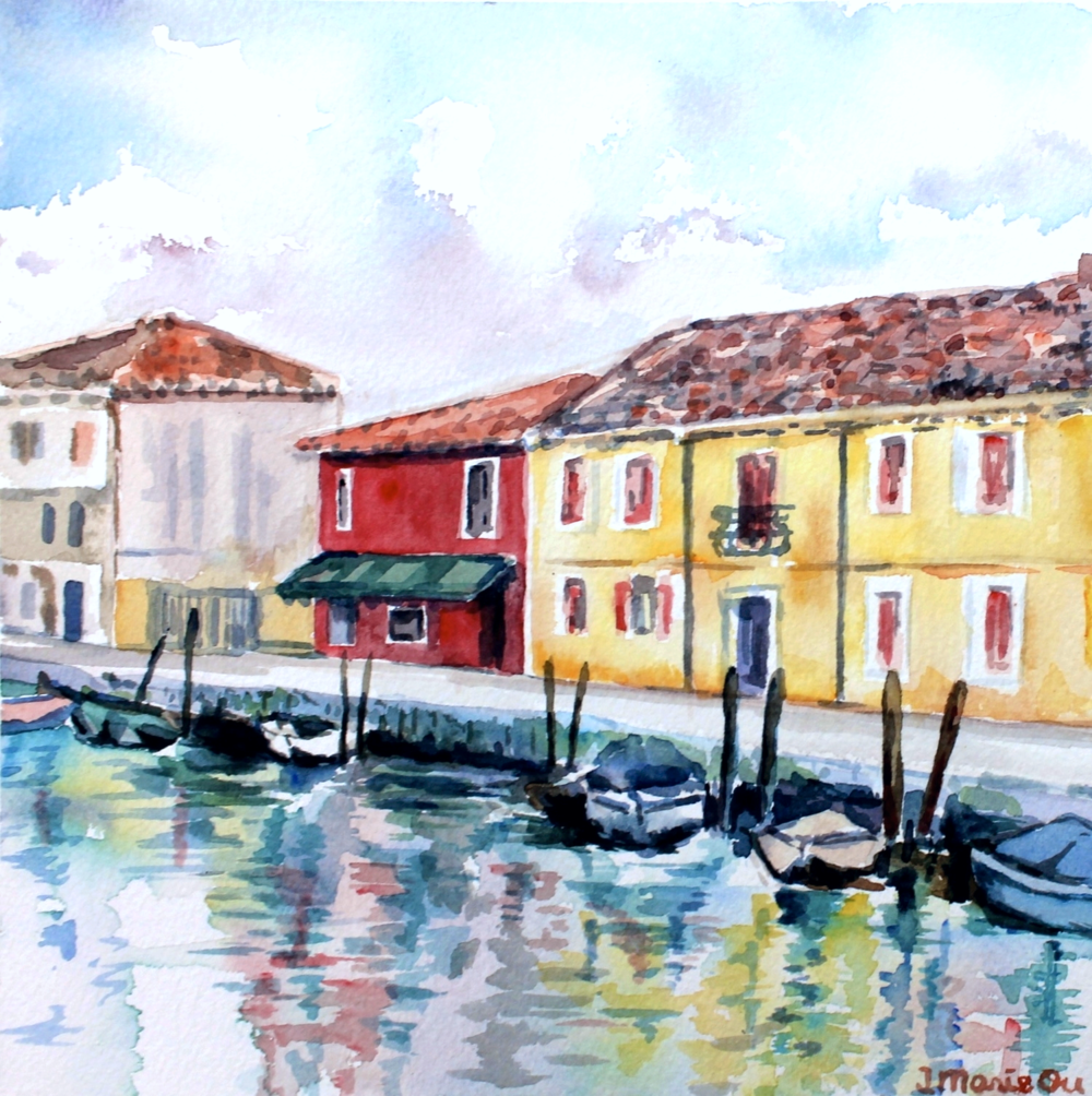 Murano, 8x8, watercolor. Sold