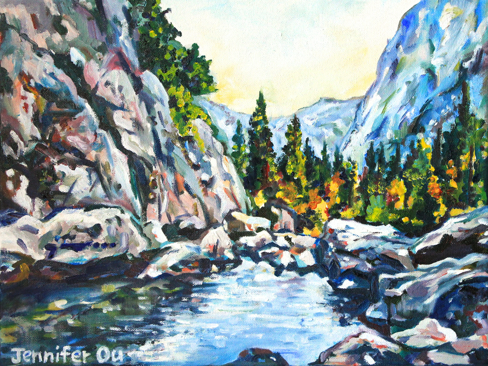 Lower Yosemite Falls                                              12x16, oil - $240