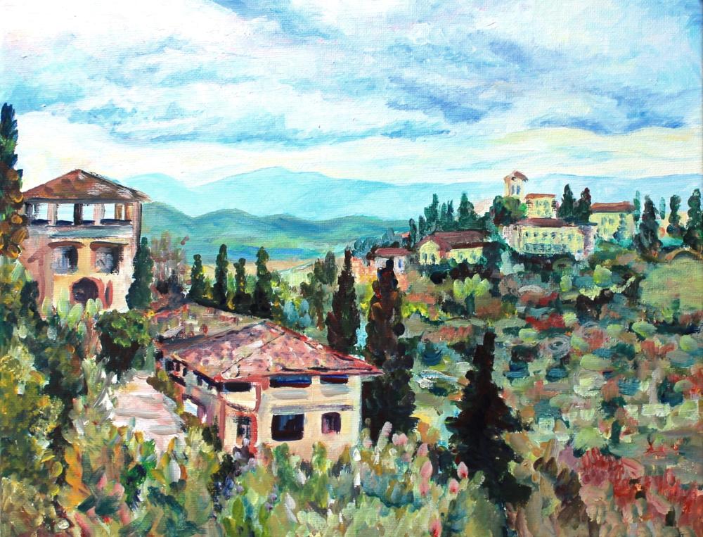 Castello di Verrazzano               11x14, acrylic                   Sold