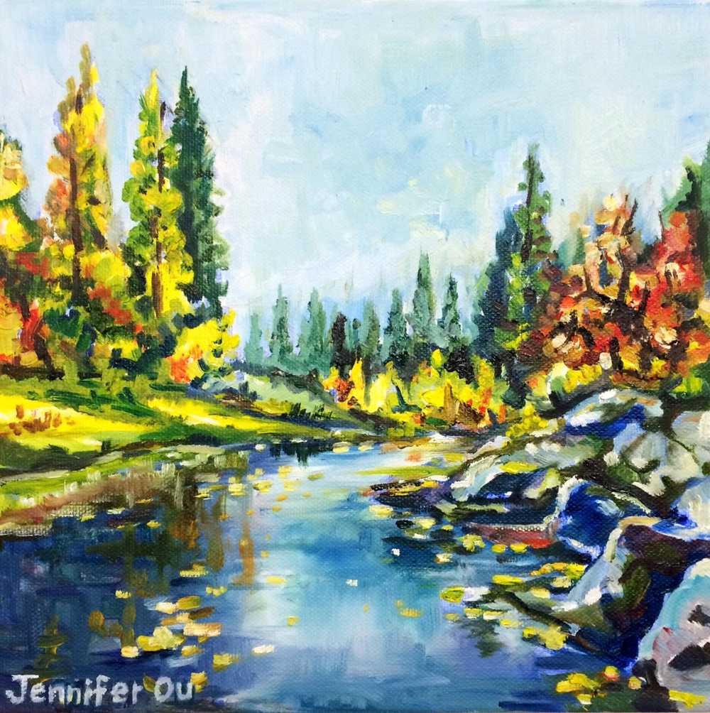 River of Mercy (Merced River of Yosemite)                                                   10x10 - SOLD