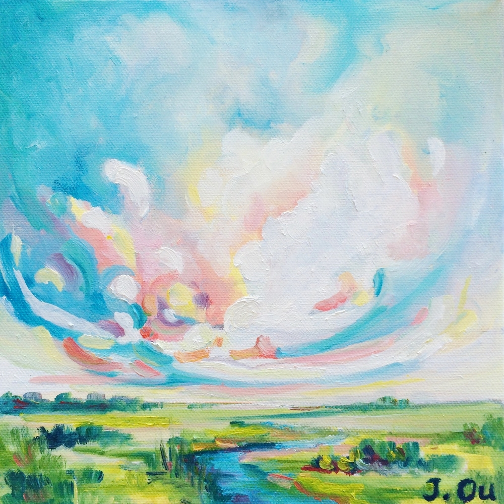 Rejoice 10x10, oil - SOLD