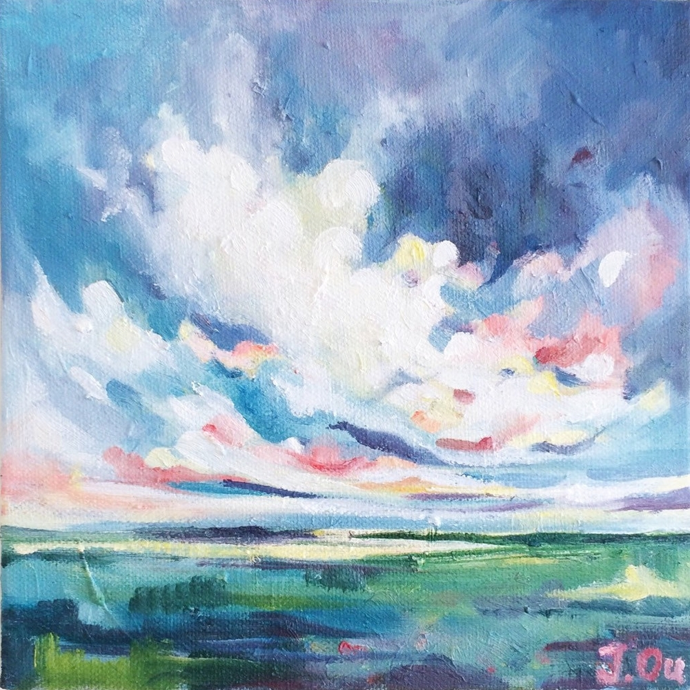 Grace in the Storm 10x10, oil - SOLD
