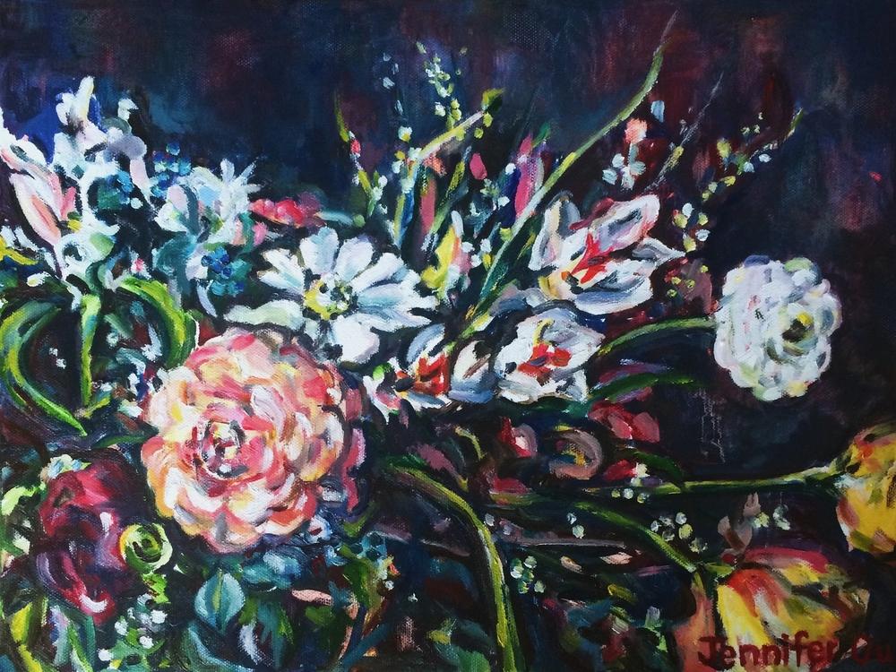 Spring Garden (2015) 12x16, oil --SOLD