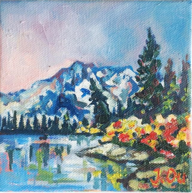 Autumn in the Mountains (2015)                                                      5x5, oil - SOLD