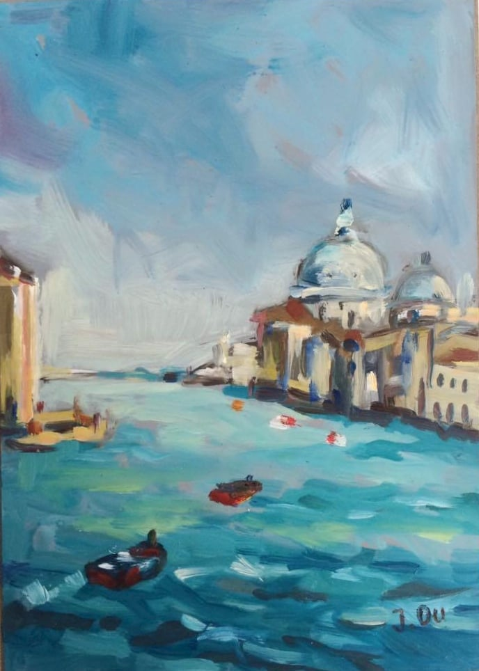 "The Grand Canal 5x7"", oil on board - SOLD"