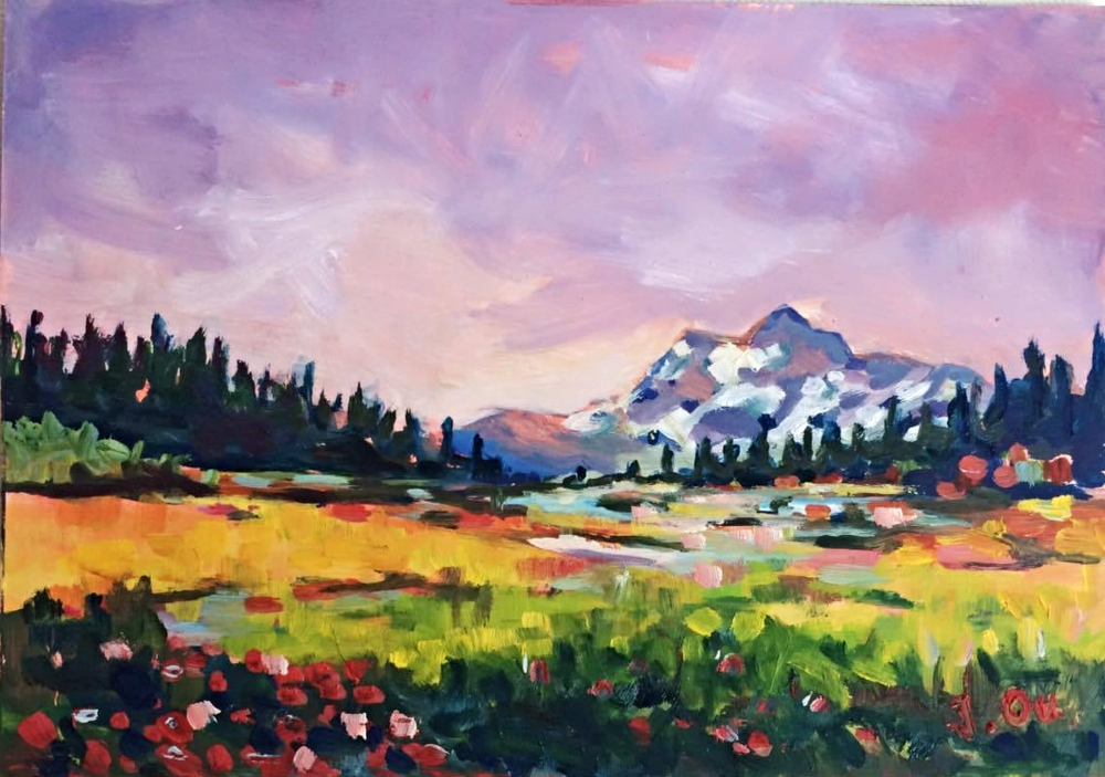 Heather Meadows 5x7, oil on board - SOLD