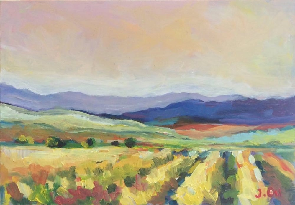 Napa Valley 5x7, oil on board - sold.