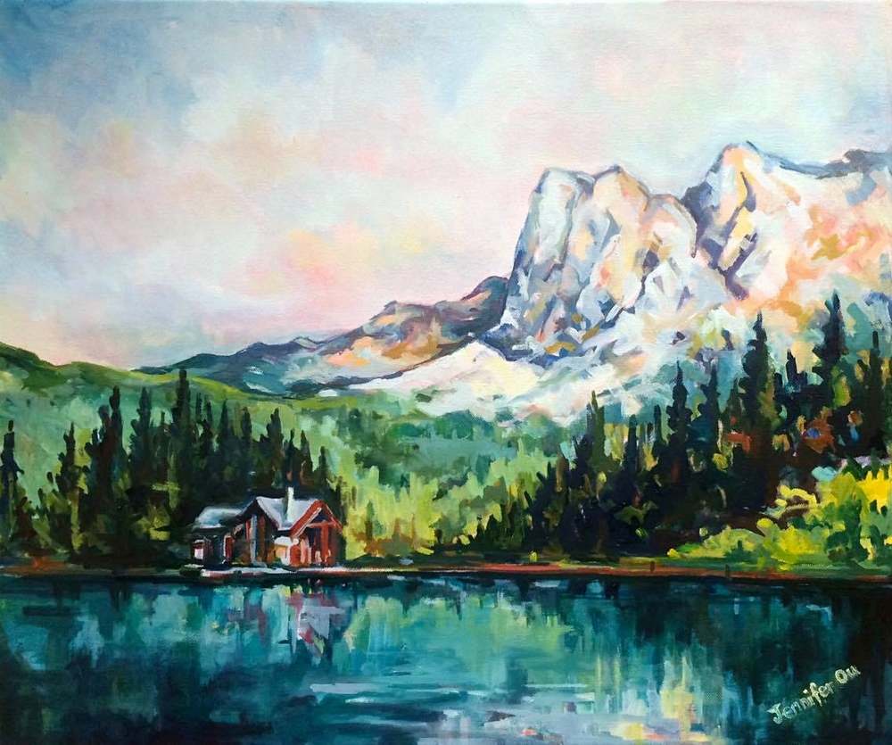 "Emerald Lake 20x24"", oil on canvas. SOLD."
