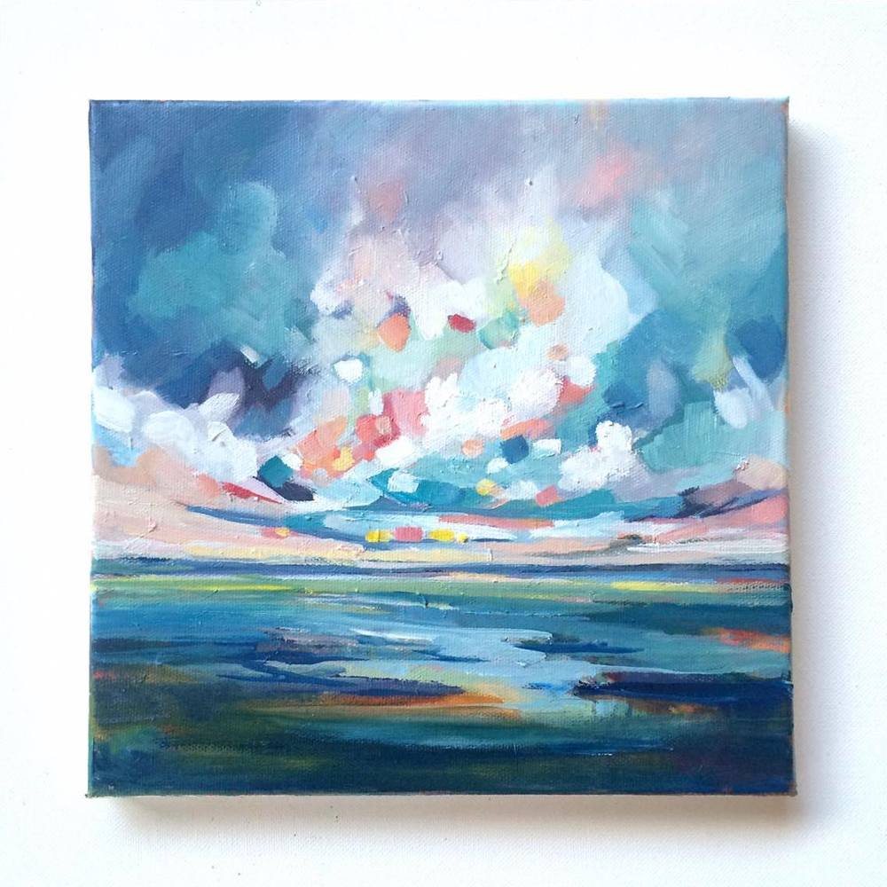 Frosted Sky 10x10, oil on canvas - SOLD