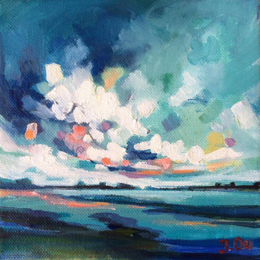 Moon River 6x6, oil on canvas - SOLD