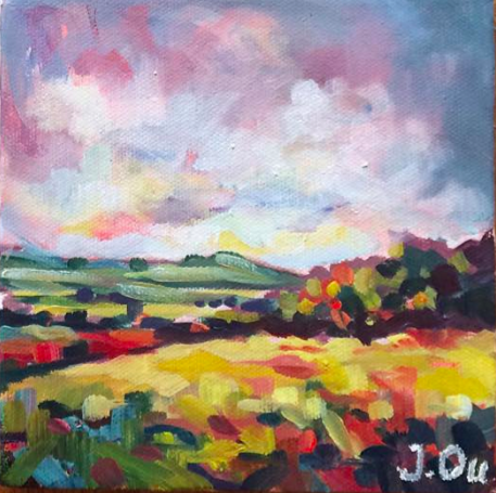 Golden Hills 6x6, oil on canvas - SOLD