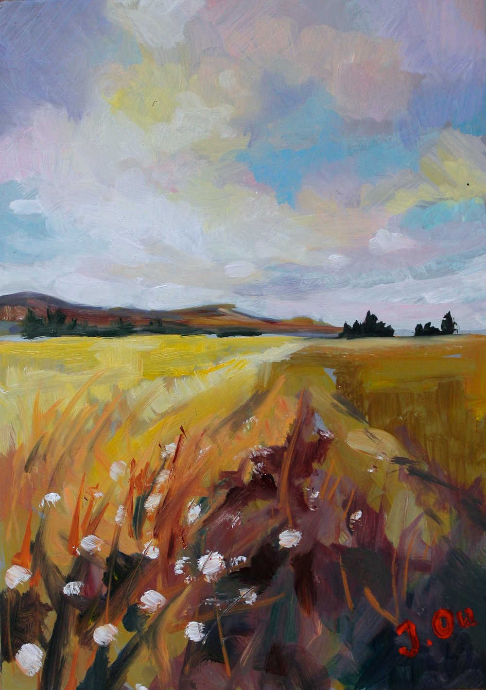 "Fields of Gold 5x7"", oil on panel - SOLD"