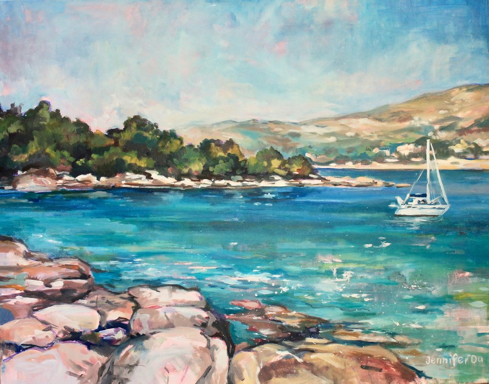 Mediterranean Paradise, no. 1  22x28, oil on canvas. Available