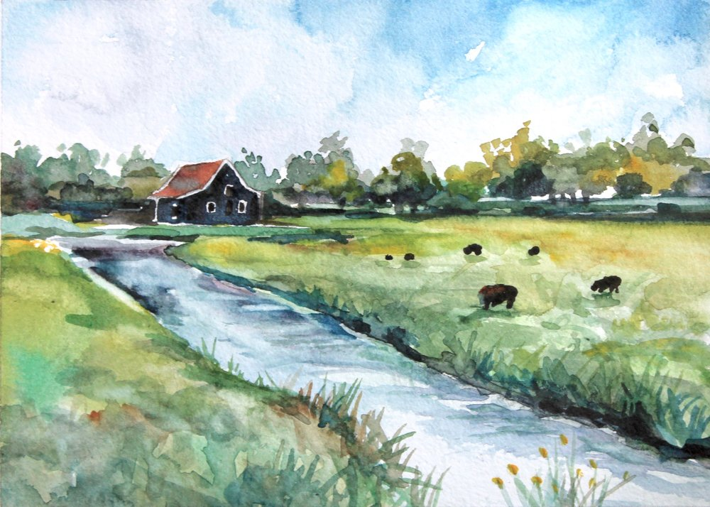 North Holland 5x7, watercolor. Sold.