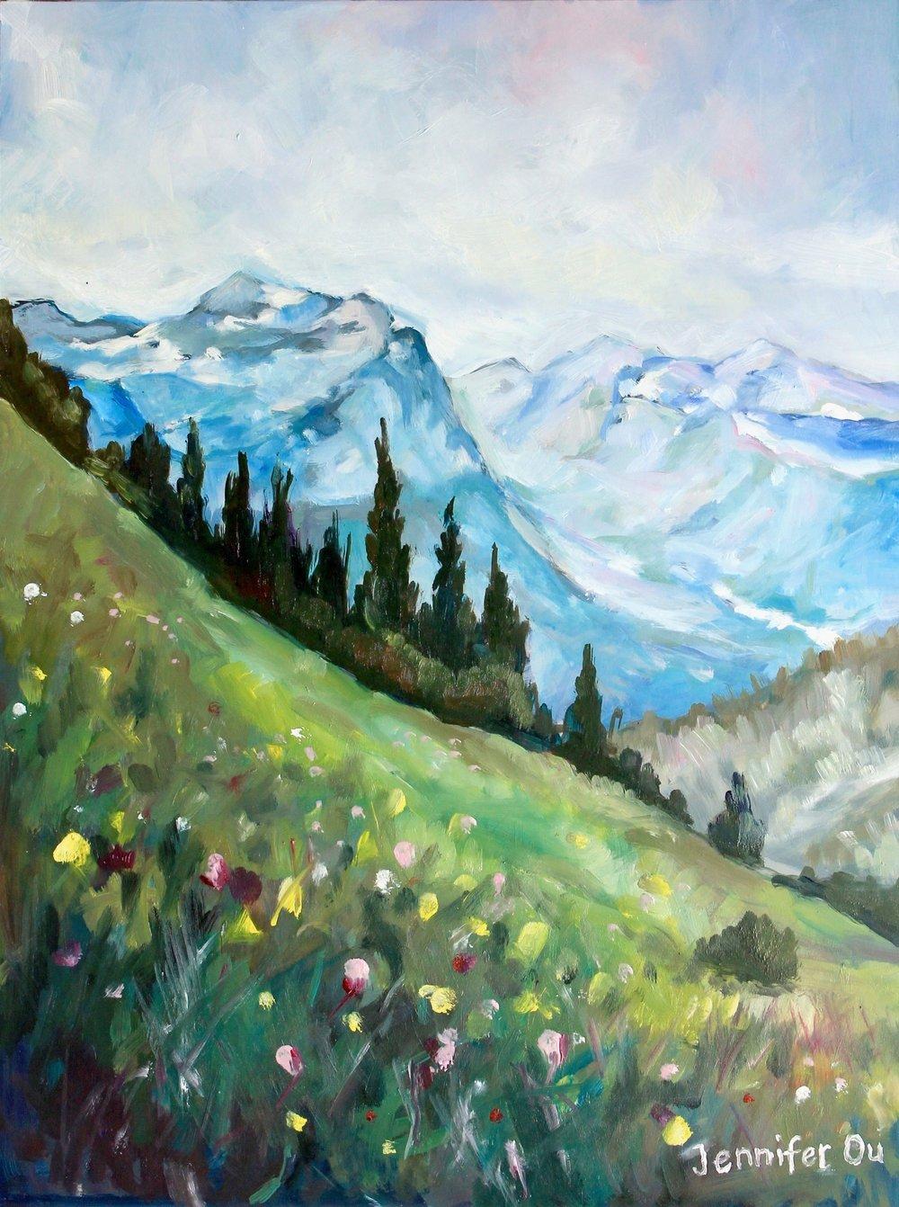 Alpine Meadows, 12x16.