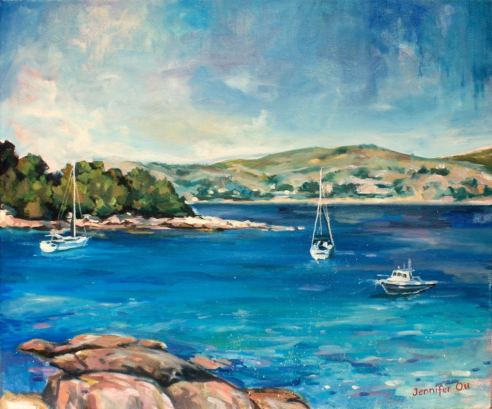 Mediterranean Paradise, no. 2 20x24, sold.