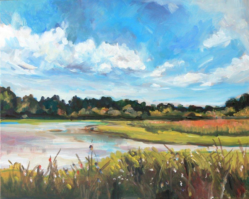 Marsh Overlook 8x10, oil on board. Available $150