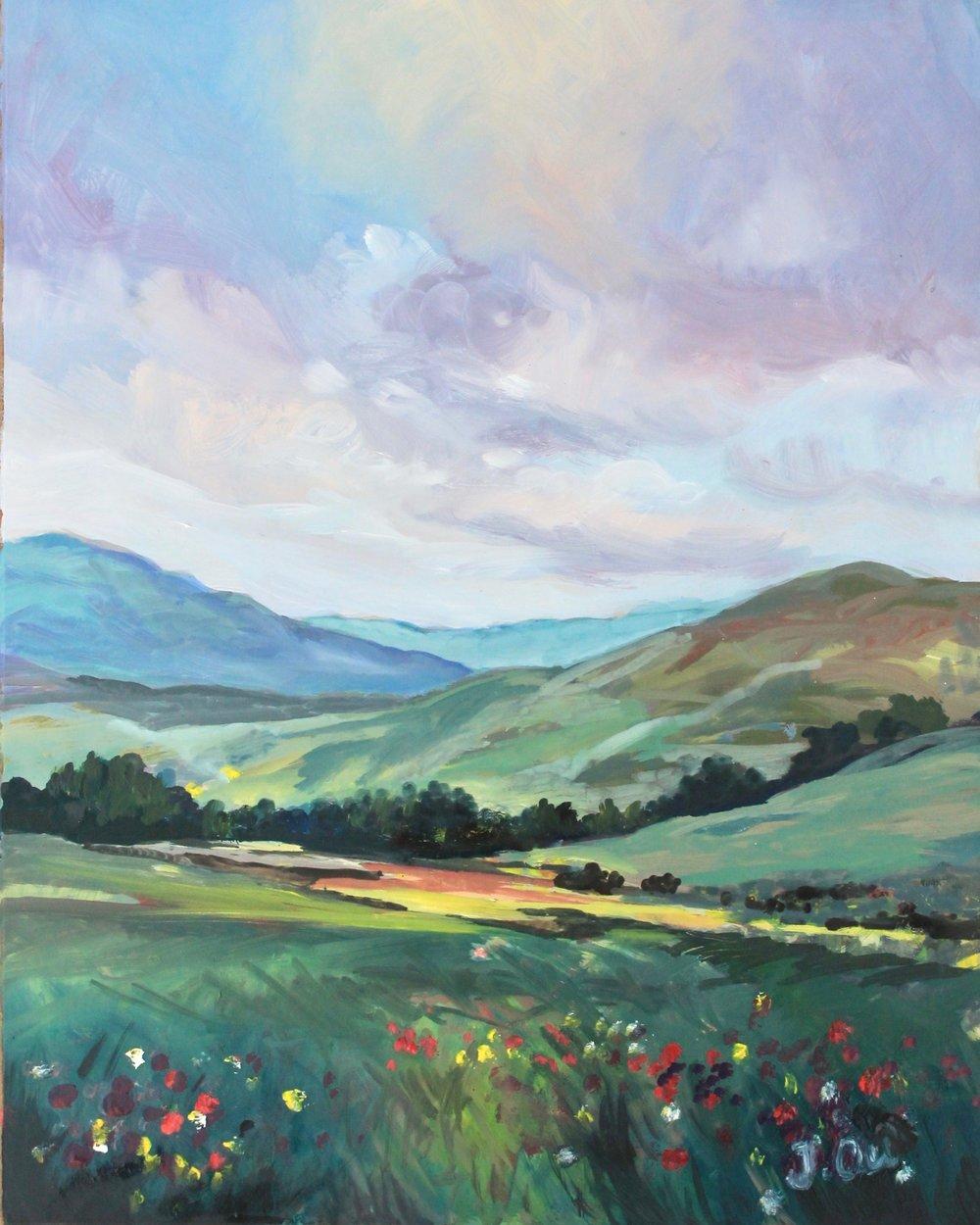 Hills & Valleys, 8x10 - sold