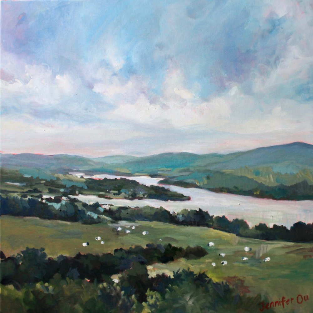 Within the Valley Green,20x20, available