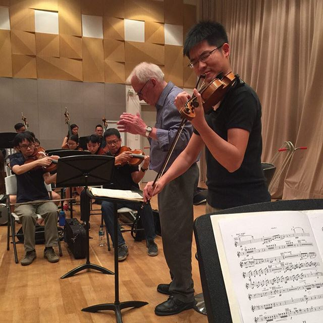 Alan in rehearsal with us in Prokofiev's scintillating Second Violin Concerto! Get your tickets from SISTIC!