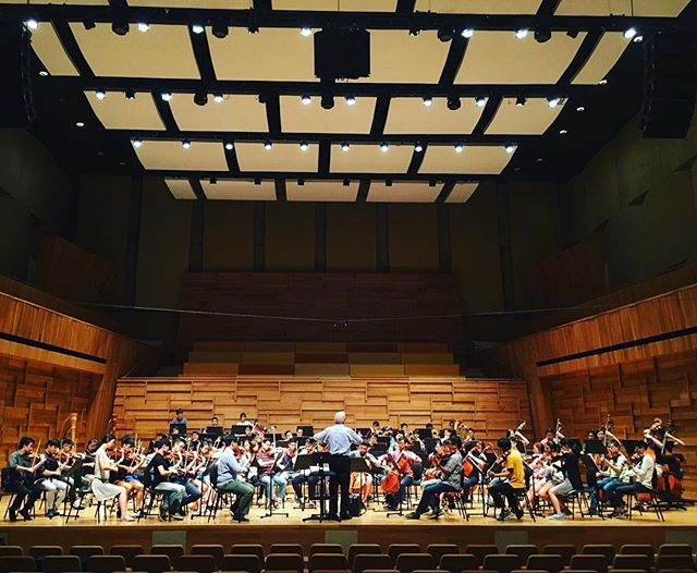 OMM in rehearsal for tomorrow's concert, featuring great works by Elgar, Prokofiev and Sibelius! Get your tickets from SISTIC, limited tickets will be available at the door!