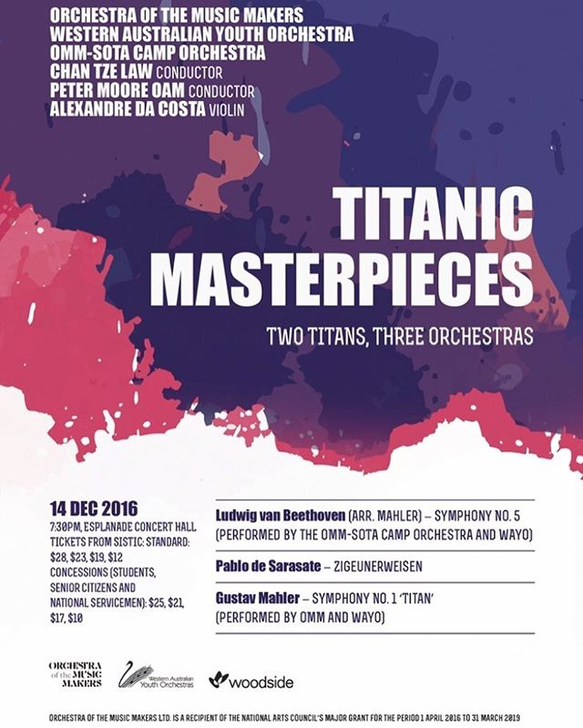 Beethoven's 5th, Sarasate's Zigeunerweisen and Mahler's 1st! 14 Dec 2016, Esplanade Concert Hall. Tickets on sale now from SISTIC!