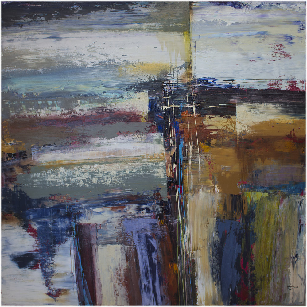 "Coronado 60"" x 60"" mixed media on canvas"