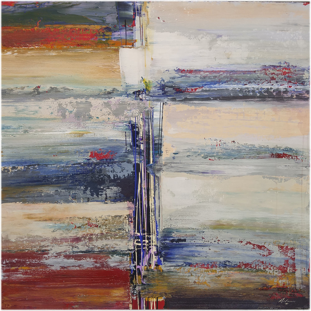 """Potenza"" 40"" x 40"" mixed media on canvas"