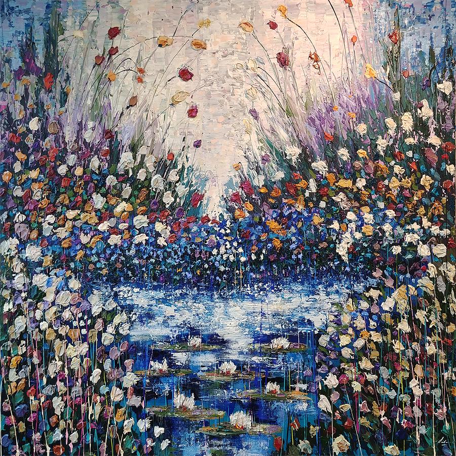 "Pensiero Bello 54"" x 54"" Acrylic on canvas"