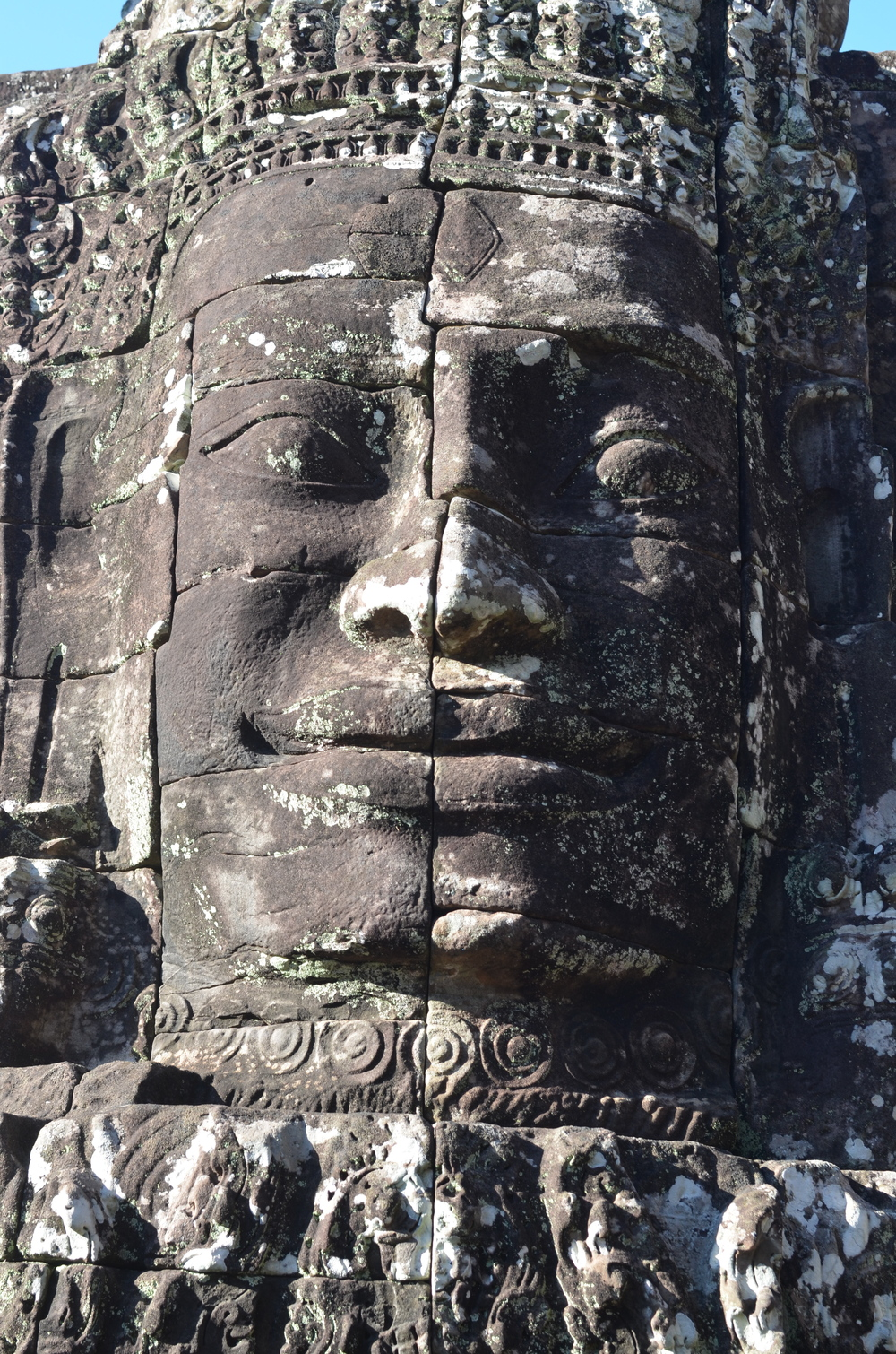 One of the statues from Bayon Temple