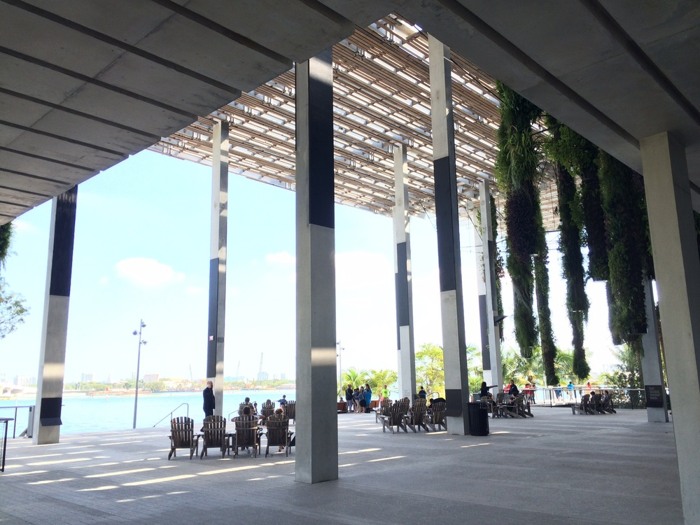 The large veranda on the bay.